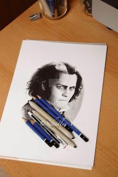 Sweeney Todd first touch of pencil . More soon . by Cap007