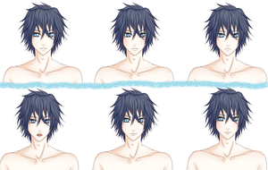Visual Novel sprite expressions by irouniki