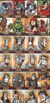 Iron Man 2 sketch cards by Red-J