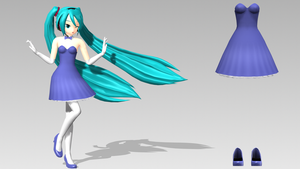 :MMD: Strapless Dress and Heels Download by Jomomonogm