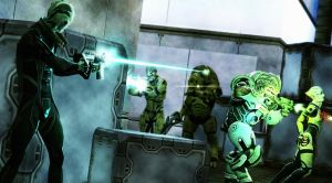 Thane and grunt killing mercs by Mjans