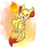 Fennekin the Fire Fox by Seiishin