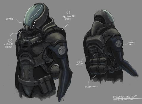 Frogman Dive Suit by freakyfir