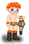Sheamus the new US Champ colored by Fallonkyra