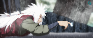 Jiraiya Last Moments of life by Hoenhaimm