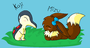 New PMD 1 Team kaji and Mizu by TwilightTheEevee