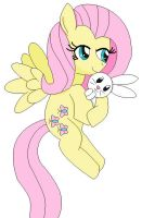 fluttershy and angel by cartoonfan88