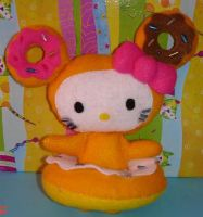 Donuttela Kitty plushie by Kittyportugal