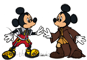 Two Mickeys by Vega-Three