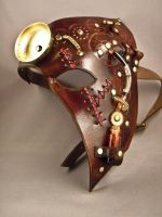 Steampunk leather half mask - Dr Hal - by IsilWorkshop