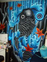 Koi mural by sideshow87