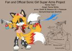 SonicSuperArmsProject  Angel(DesignTest) by skyshek