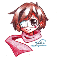 Red scarf by Monochrome--Melody
