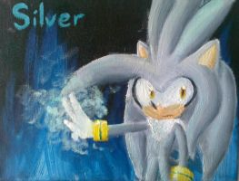 Oil painting :D Silver owo by SilverfanNumberONE