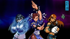 team fight girl's by vizaw