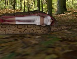Forest victim 2 snake vore 8 by swiftbladez