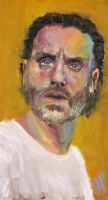 Portrait of Andrew Lincoln as Rick Grimes by JessKristen