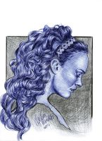 Padme Amidala Ballpoint Pen Drawing by AngelinaBenedetti