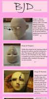 BJD Face-up Tutorial by pirakarapper