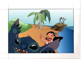 Lilo and stitch card by Graduisc