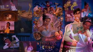 Commission: The Princess and the Frog Collage by x12Rapunzelx