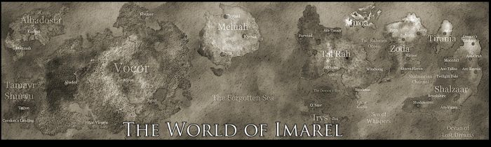 World of Imarel Map Poster by tasaunders