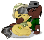 Commission:  Cuddle with Daring Do by AleximusPrime