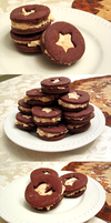 Chocolate Peanut Butter Sandwich Cookies by Crocuta-Crocuta