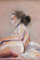 45 min pose- 25 minute drawing by Hillary-CW