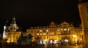 Old town Square at night by EllenorMererid
