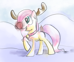 Filly Fluttershy rudolf by manfartwish