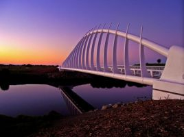 Sunset Bridge by Hippotipus