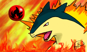 Typhlosion - Heating Things Up by General-Mudkip