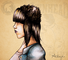 Skinhead Girl by Achacja