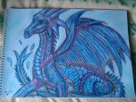 Water dragon Aquilla by Laineyfantasy