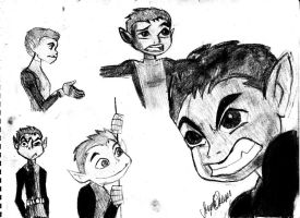 Beast Boy Sketches by BLIvorySS