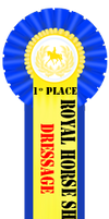 First Place Dressage Ribbon by Horse-Emotion