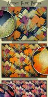 Abstract Fabric Pattern by AzureRayArt