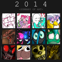 2014 Art Summary by Mickeymonster