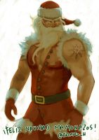 A quick Bad-ass Santa by jaimito