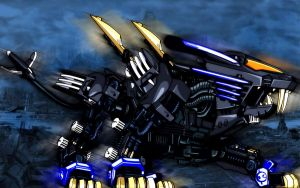 Blade Liger -  Black in Blue by falconfliesalone