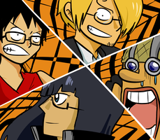One Piece x P4: All Out Attack by BladeXD