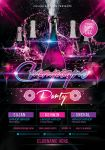 Champagne Party Flyer by mantushetty
