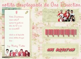 Skin for rainmeter Note (One Direction) by mishycrazylove