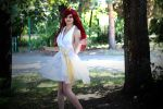 Erza Scarlet (white dress) - Fairy Tail cosplay by AnitramNoriko