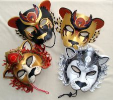 Pride of Leather Lion Masks by b3designsllc