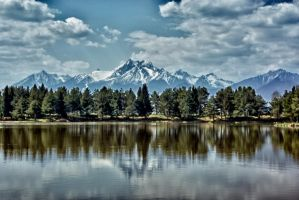 Spisska Bela Lake HDR by minko2312