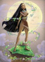 Pocahontas by bluespottedfrog