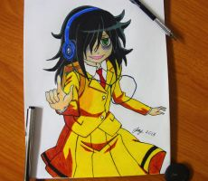 Tomoko (Watamote) by Jikanwa