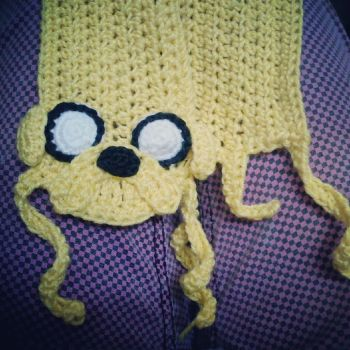 Jake the Dog Scarf by michelle-murder